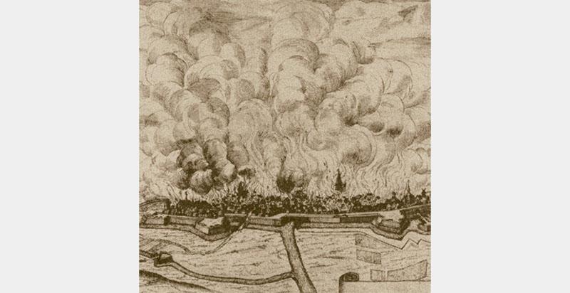 Brennendes Stade 1659